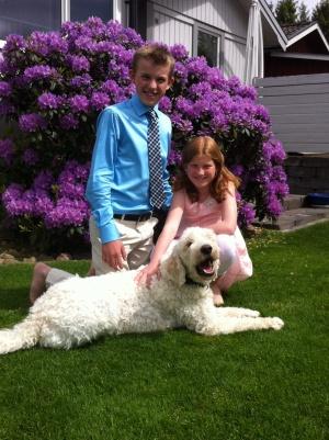 Skolavslutning med Gustaf och Linnea
