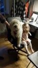 Saga och Milia (vårt barnbarn)