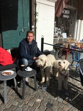 Vi hittade ett fint cafe att äta lunch på i Ystad.