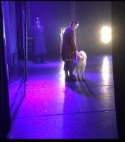 Sista föreställningen har börjat.... Jag tog bilden från min plats bakom scenen. Vilken otrolig upplevelse det varit, hela resan <3 Det känns sorgligt idag....