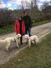 Vår lilla familj på promenad i vackra Brösarp