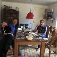 Jessica och jag har varsin Anders, jag finns bakom hunden och Vill tog Jessicas plats =)
