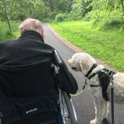 på promenad med en vän