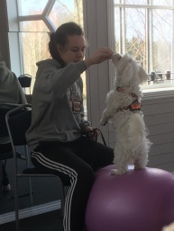 Molly har fin kontroll på kroppen