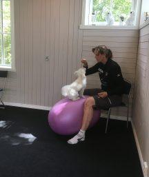 Molly på balansboll