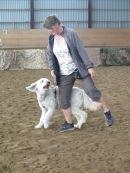 Världens roligaste sommarkurs, denna gången var det Dog dancing på dagordningen. Farten syns på Charlies öron =)