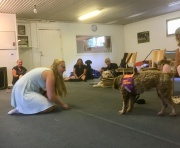 Att genom lek och kroppsspråk visa hunden vad som önskas