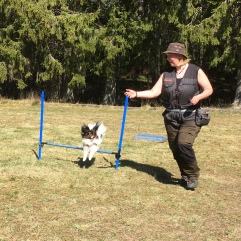 Fina Alma tränar med matte